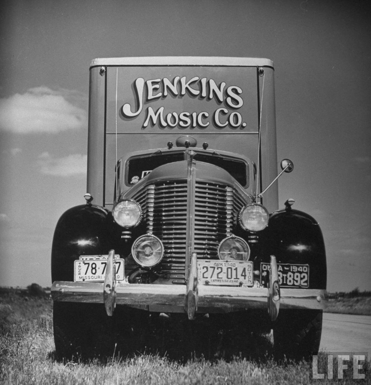 Jenkins Music Company truck containing pianos (from 1940 Life Magazine article)