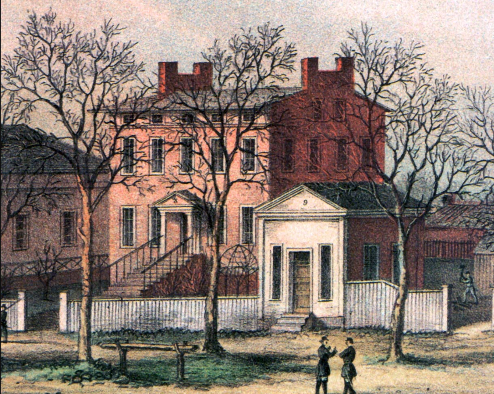 Historic view of the Riddick House. Source: http://riddicksfolly.org/wp-content/uploads/2014/01/LithoScana.jpg