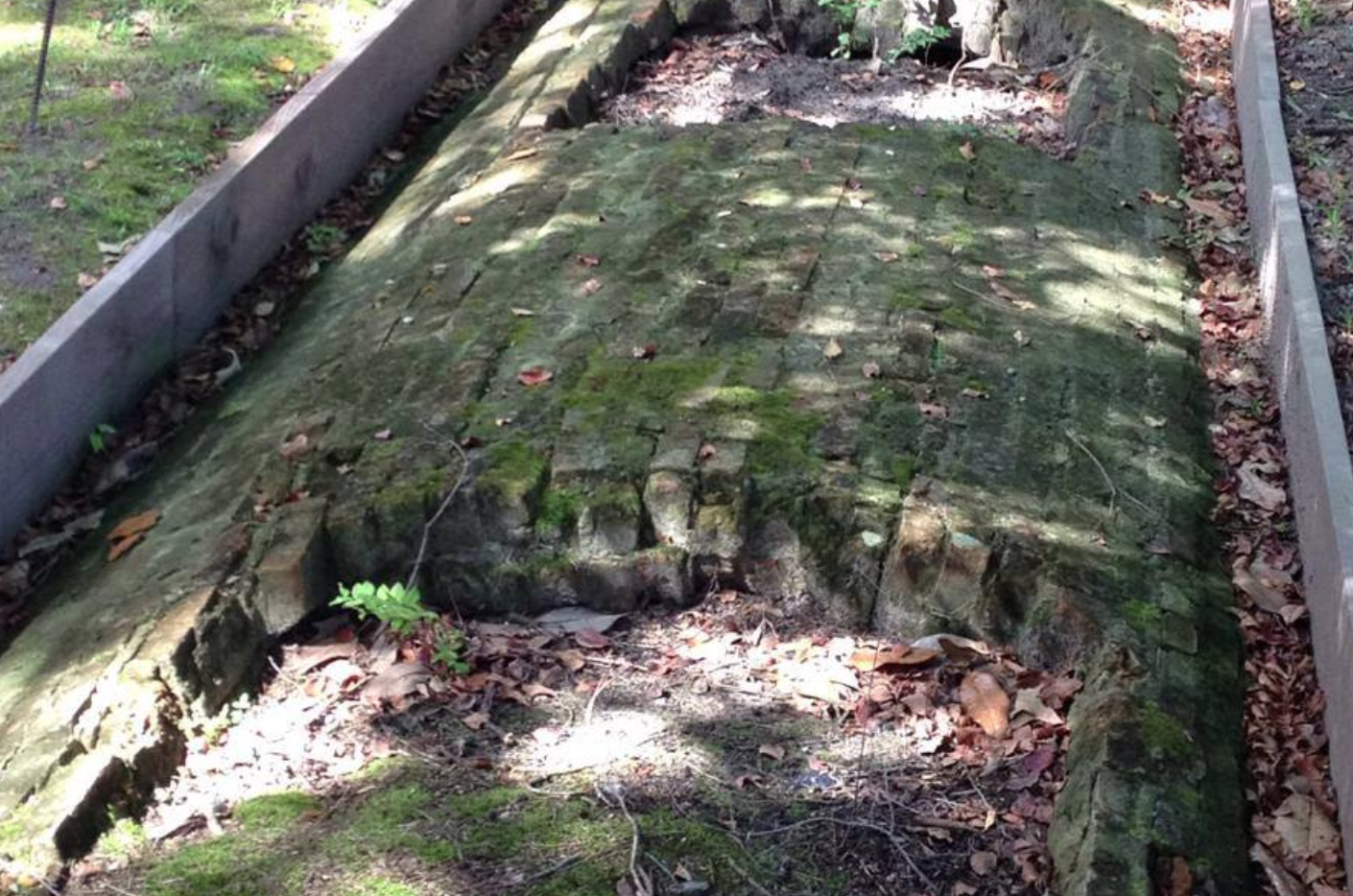 The historic cistern, excavated by Longwood College and DHR archaeologist Mike Clem in 2015.