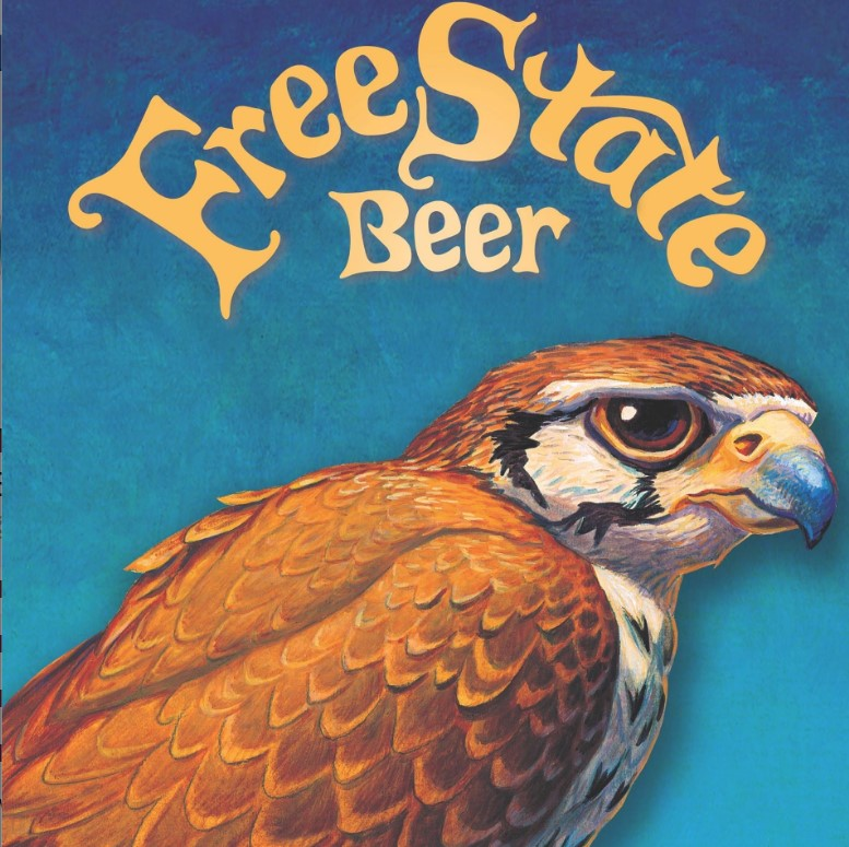 Free State Beer's emblem of a jayhawk from their Facebook home page