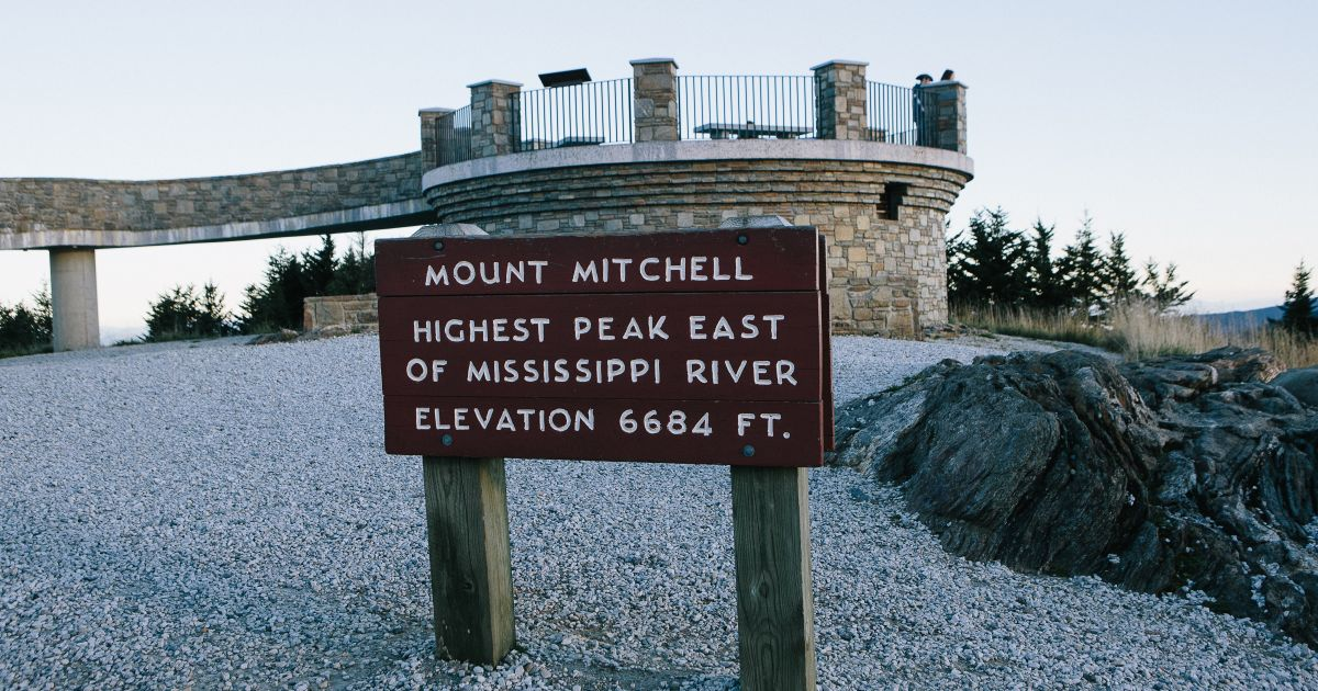 Observation deck at the peak of Mount Mitchell