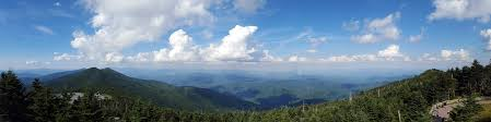 Panorama view from the observation deck at the peak of Mount Mitchell