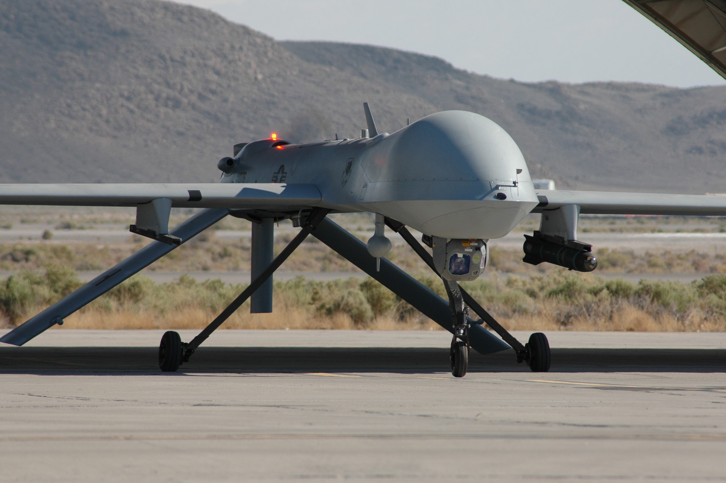 A Predator Drone on the runway.