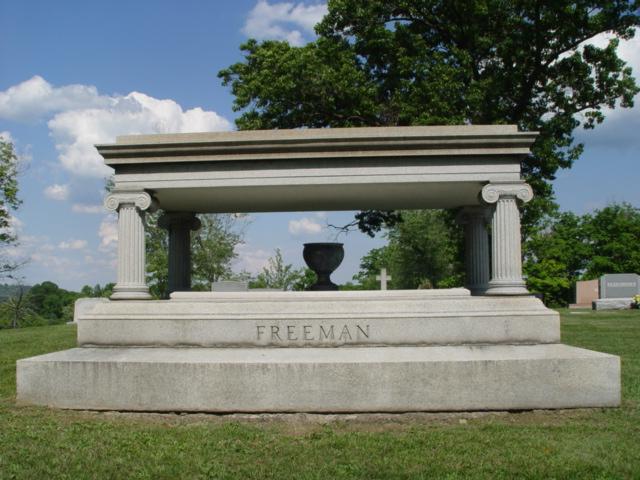 The Freeman memorial in Woodmere Memorial Park