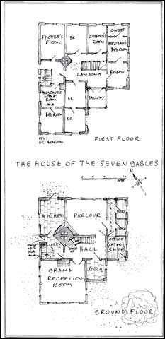 Floor Plan of the House of the Seven Gables (Photo courtesy of Mr. Rizer's Continuing Travels)
