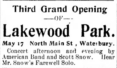 Naugatuck Daily News,  advertisement, 11 May 1899.