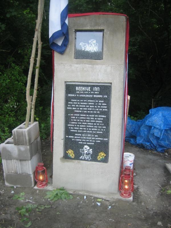 Beehive Inn Historical Marker
