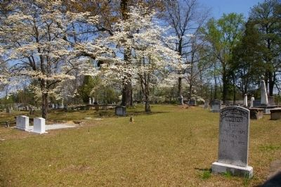 The cemetery contains graves that date to 1796 but also unmarked graves that probably are even older.
