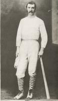 Malcom McDonald is known as the Father of Baseball at Indiana University and is picture wearing athletic clothing.