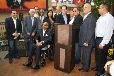 """The Celia Cruz Park was founded in 2005, by the Mayor of Union City, NJ, Bryan P. Stack. All of these people here have come to commemorate the Cuban-American singer, Celia Cruz, also known as the """"Queen of Salsa."""""""