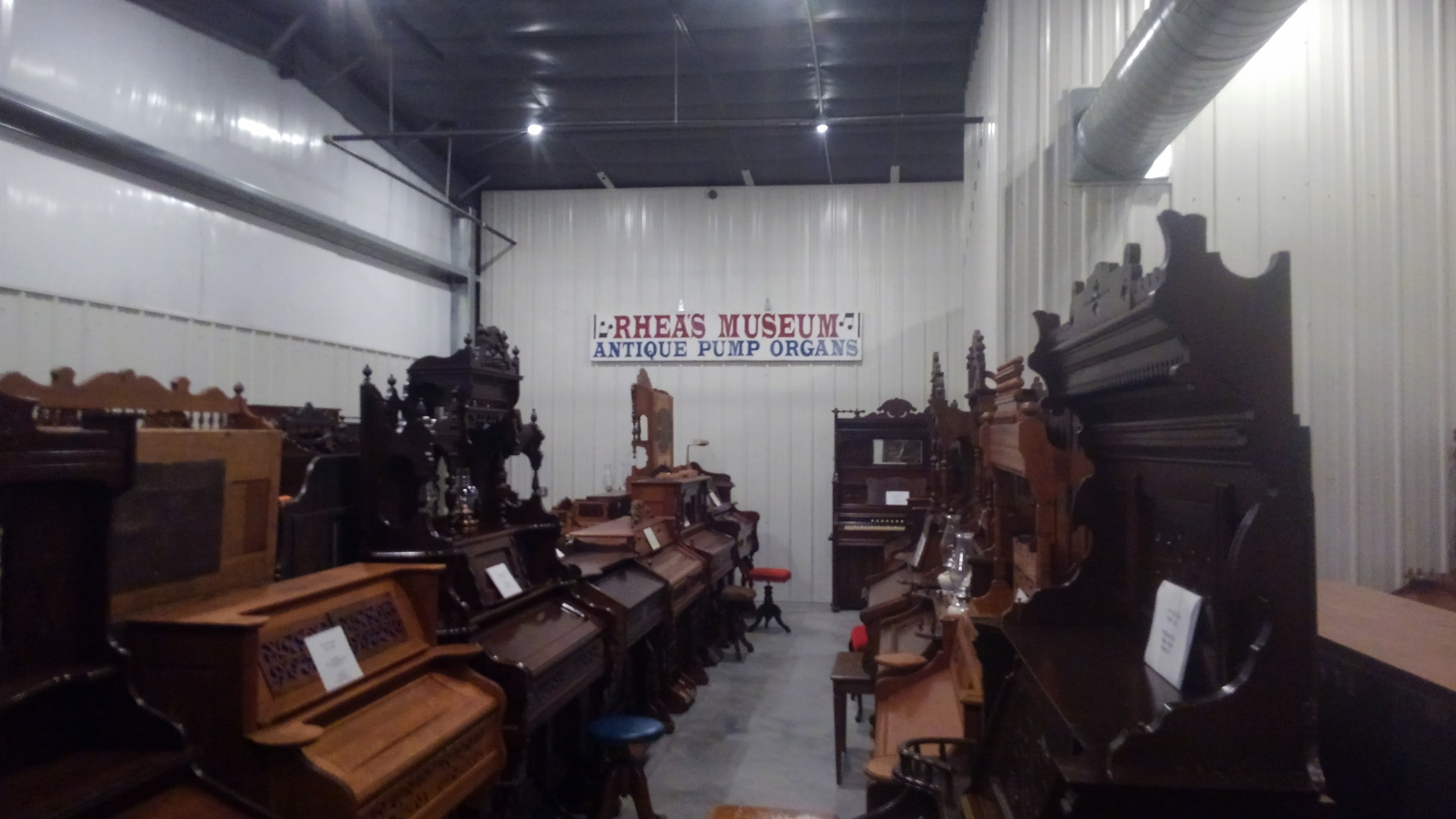 The Rhea Antique Pump Organ Museum is now housed at the Fort Wallace Museum.  Over 50 some antique pump  organs available for viewing.