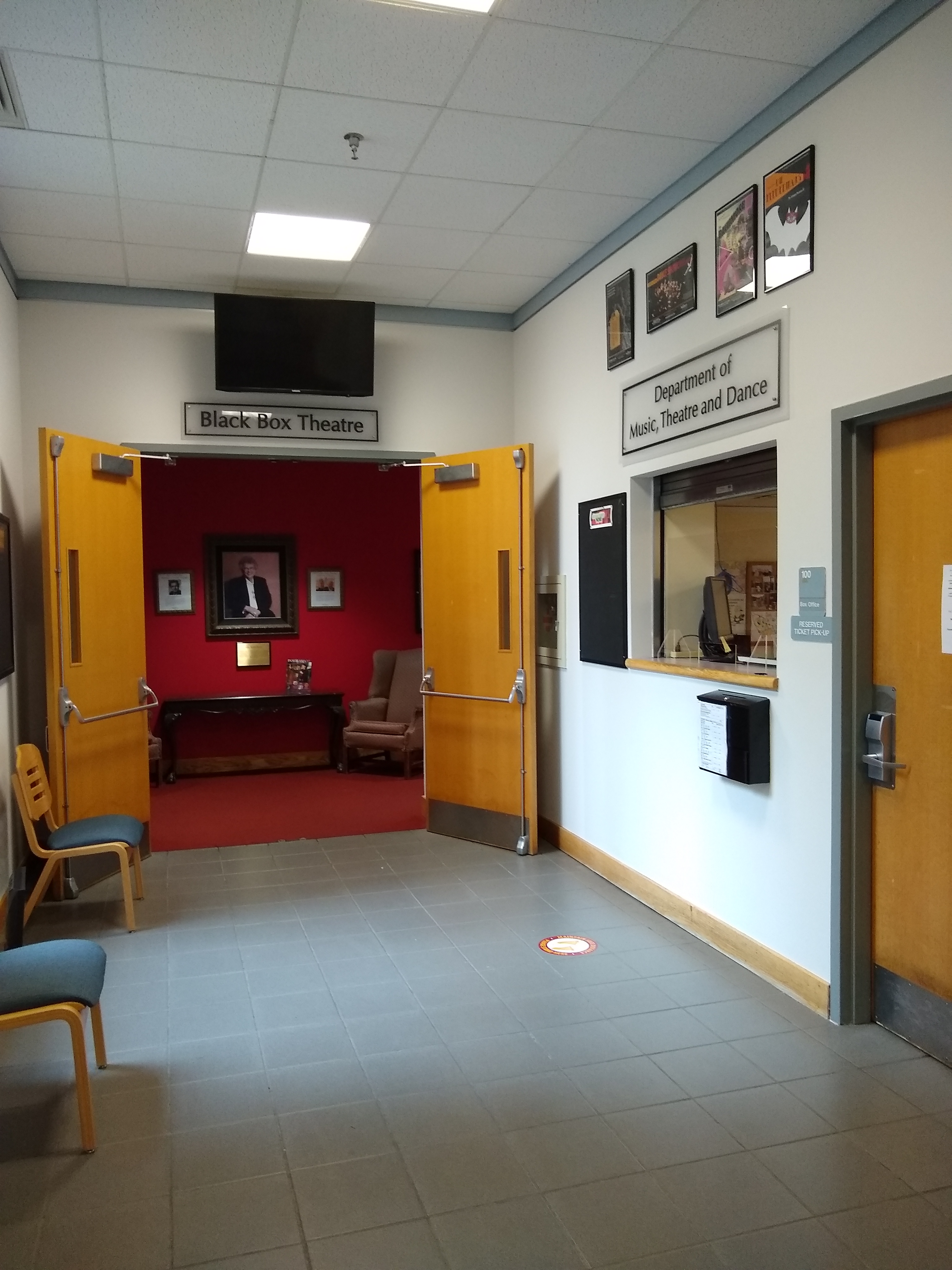 Box Office and Entrance to Black Box Theatre, 2020