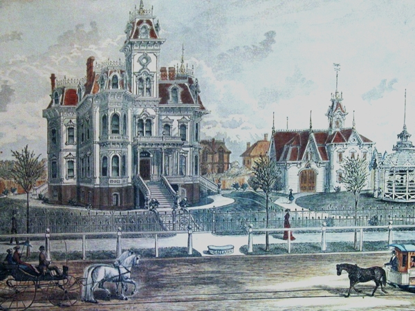 This image depicts how the mansion looked when it was built.