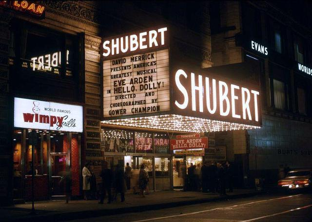 1966 photo of the Shubert (historic Majestic Theater, modern CIBC Theater)