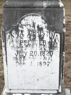 Anna Christina Kleinschmidt Pfluger headstone