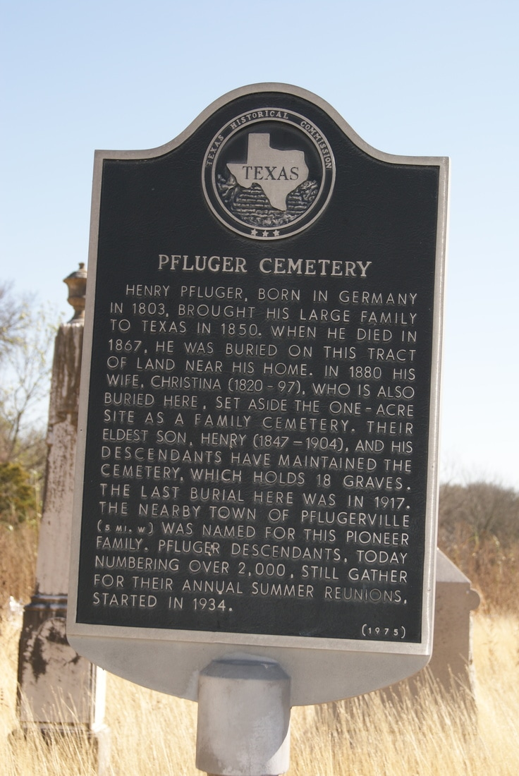 Pfluger Cemetery historical marker