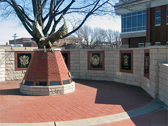 The Celebration of Freedom Memorial located on the East lawn of the courthouse.