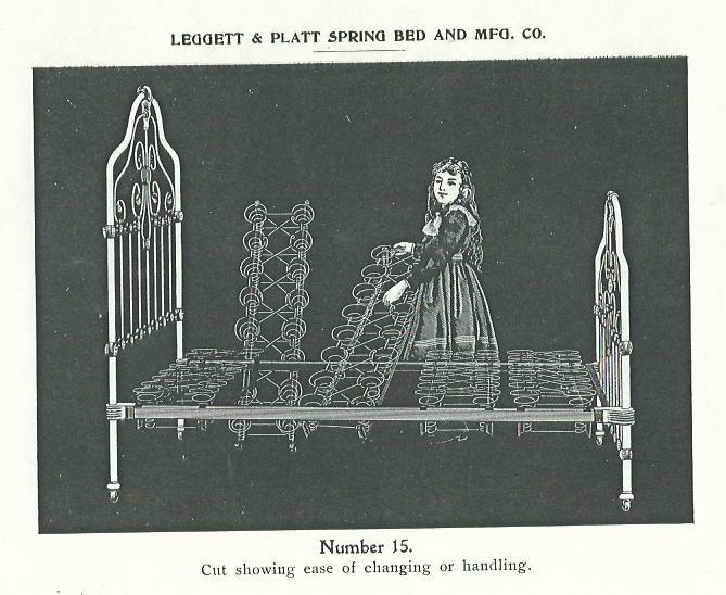 1901 catalog page from Leggett & Platt booklet.