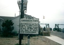 The Fort Hatteras historical marker.