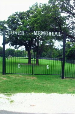 Gates to Gower Memorial Cemetery (image from Find a Grave)