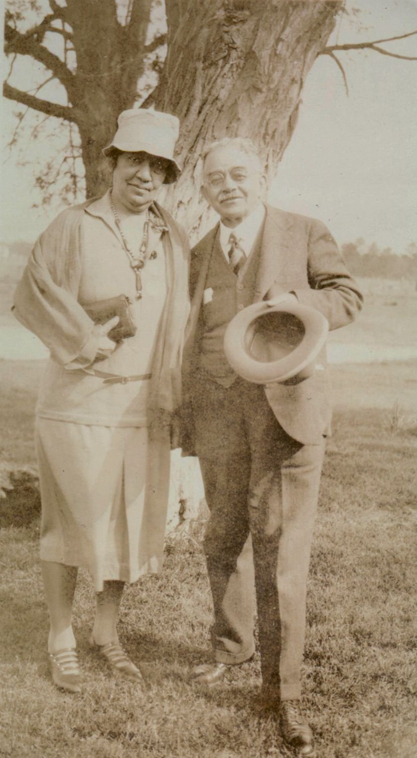 Coralie Cook with her husband, George William Cook