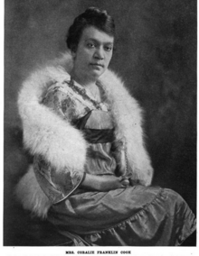 Portrait of Coralie Franklin Cook, sometime after 1899