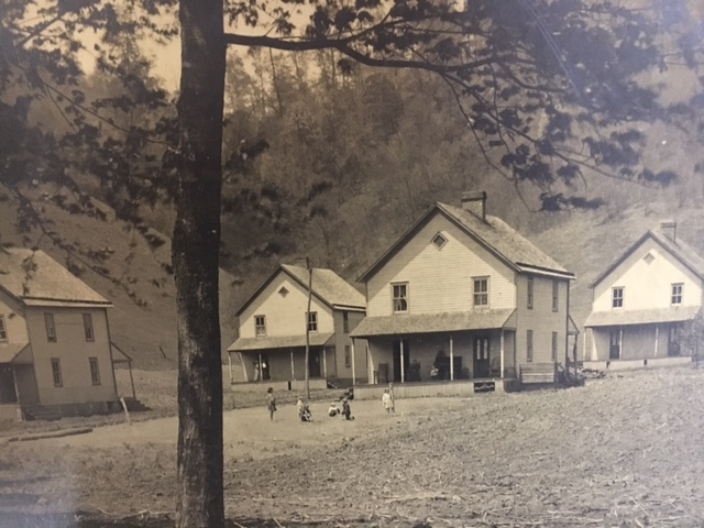These are four of the six original homes that stood in Democrat Hollow.