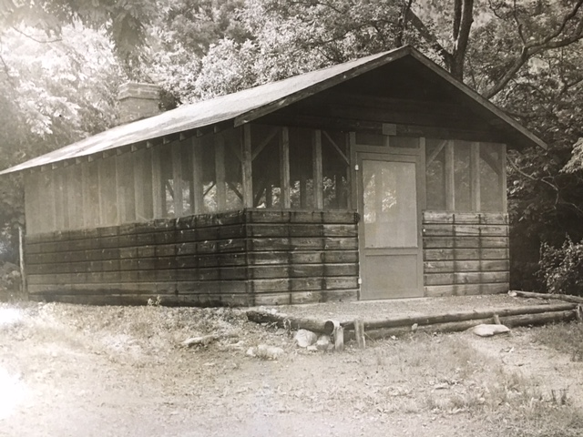 The Senior Class of 1956 built this recreational structure in Democrat Hollow.