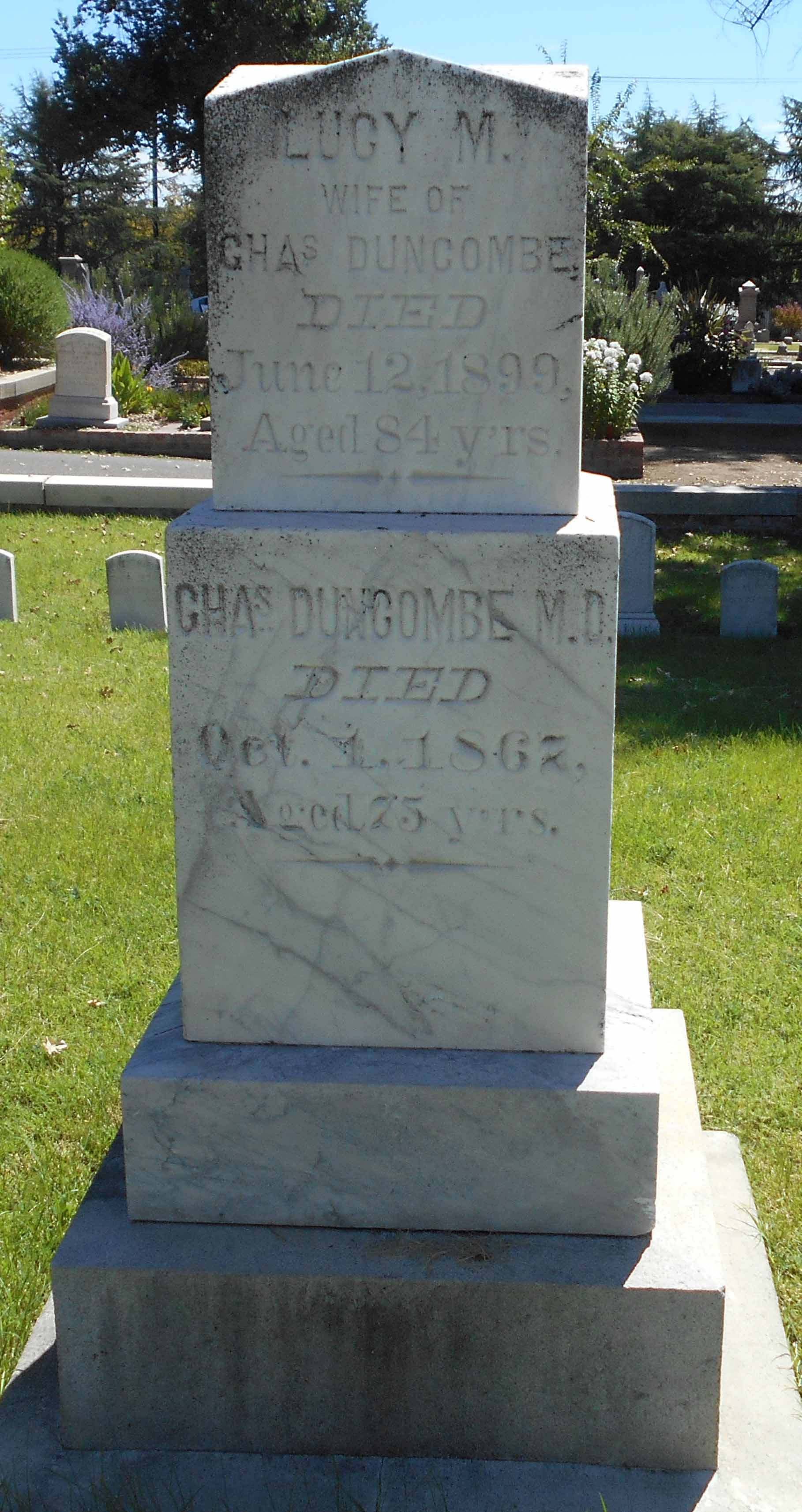 The grave of Charles Duncombe