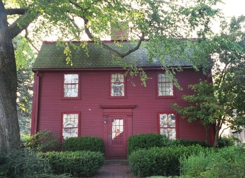 The Birthplace of Nathaniel Hawthorne (Photo courtesy of Historic Buildings of Massachusetts)