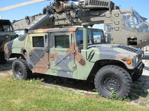 M-998 HMMWV Hummer that is displayed onsite at the museum.