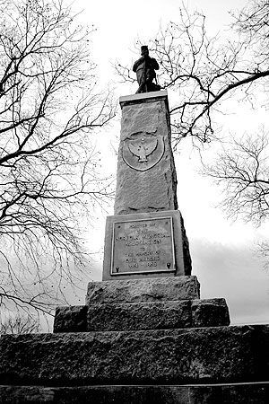 Sgt. Standing Tall overlooking the West Point Cemetery