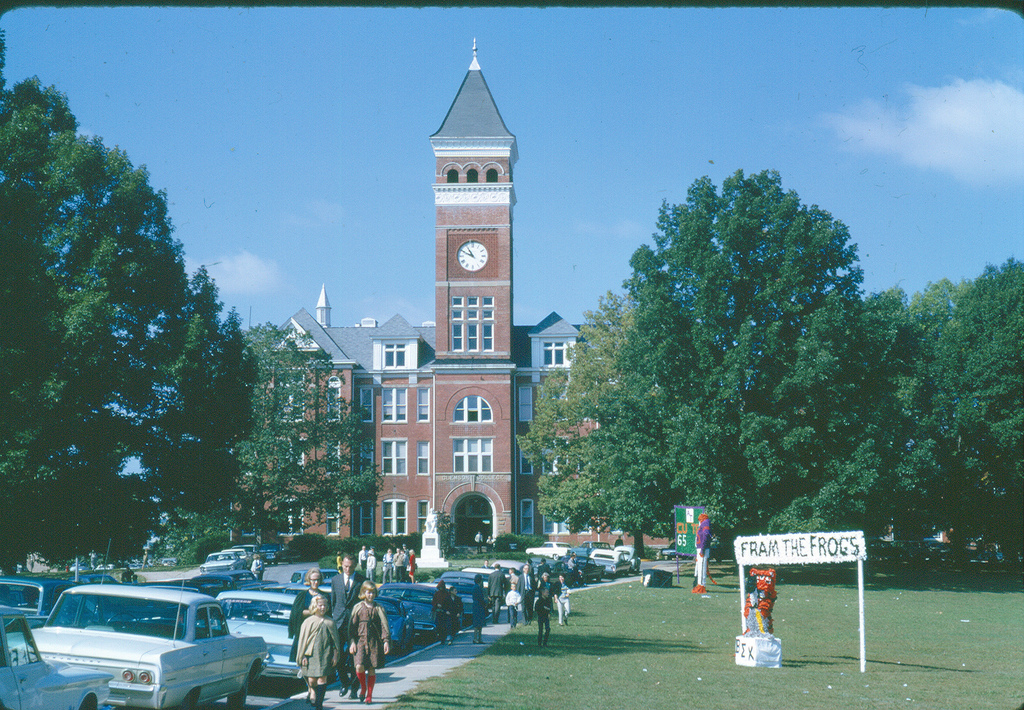 Clemson College campus homecoming early 1960s