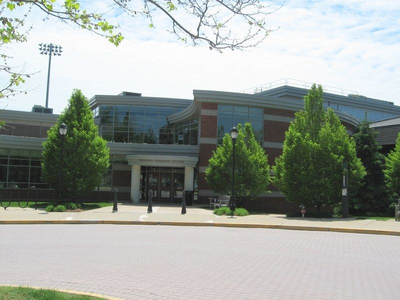 The Freeman Athletic Center that now sits where the original Freedom Church stood