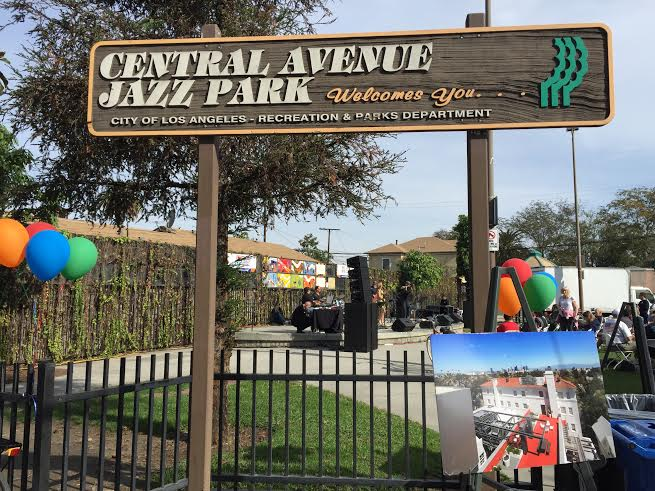 Jazz Park located on Central Avenue which since 1997 has held the annual Jazz Festival in honor of Jazz Corridor's legacy. Photo Credit: See footnote 7