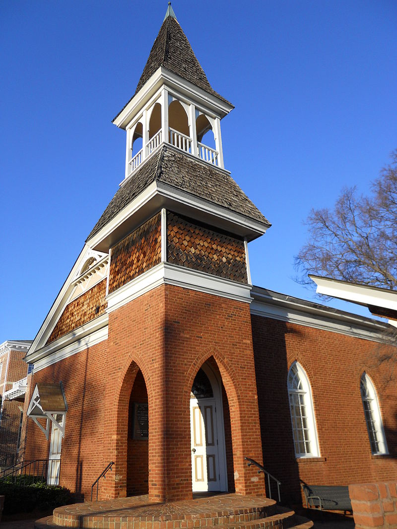 Auburn University Chapel is the oldest building on campus on its original location.
