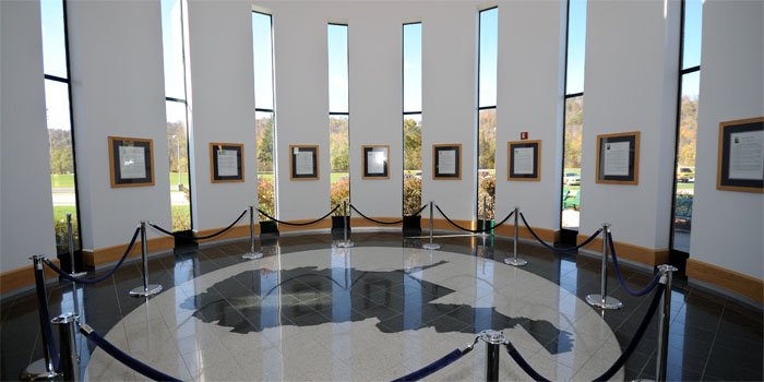Rotunda of the Robert C Byrd Regional Training Institute established in 2002 for joint anti-terrorism training.
