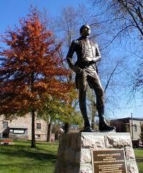 Statue of Marquis de Lafayette.
