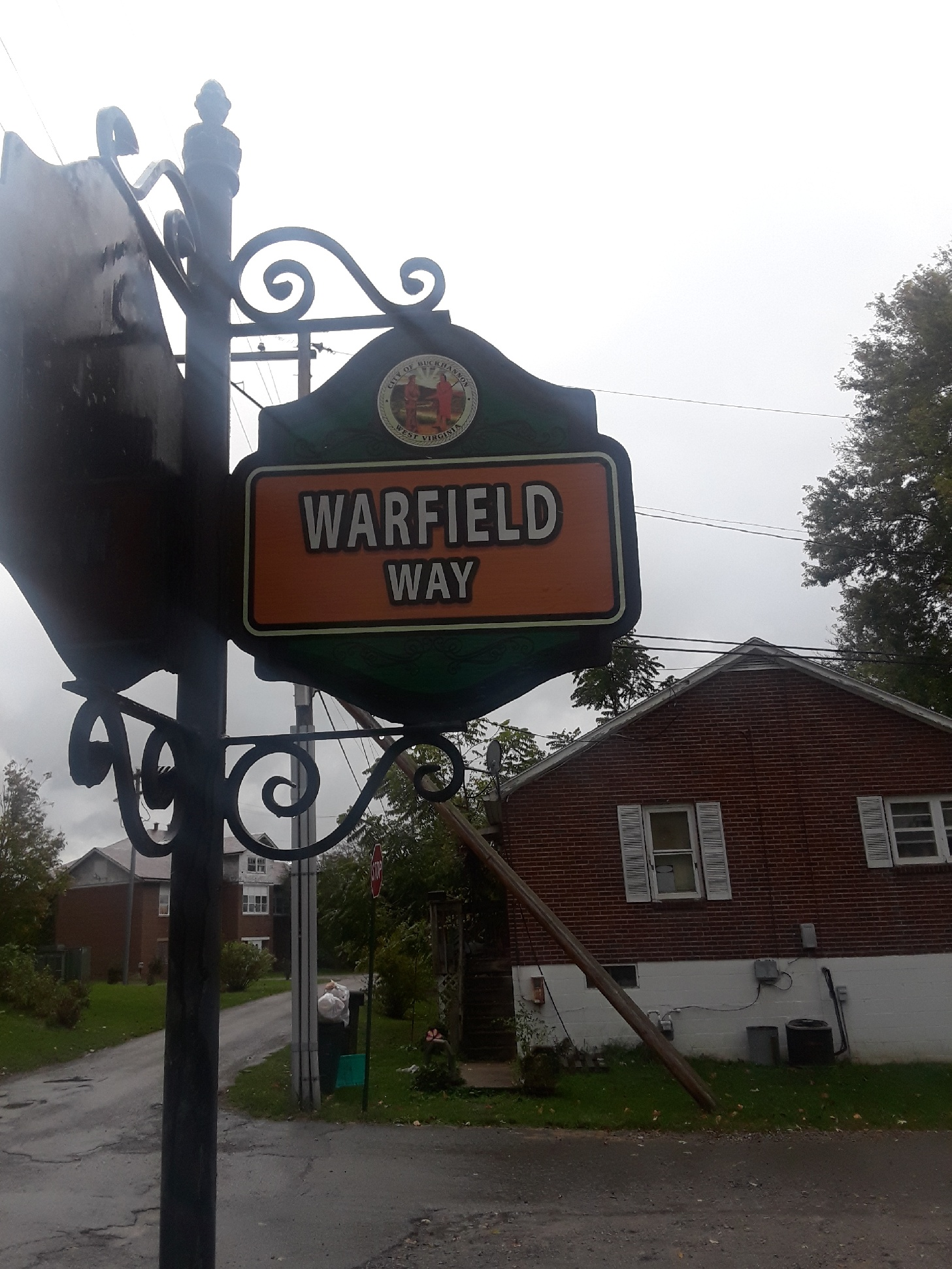In addition to the plaque, a street near West Virginia Wesleyan was named in Warfield's honor.