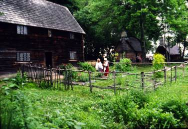 A home and garden at the Salem Pioneer Village (Photo courtesy of Salem Tales)