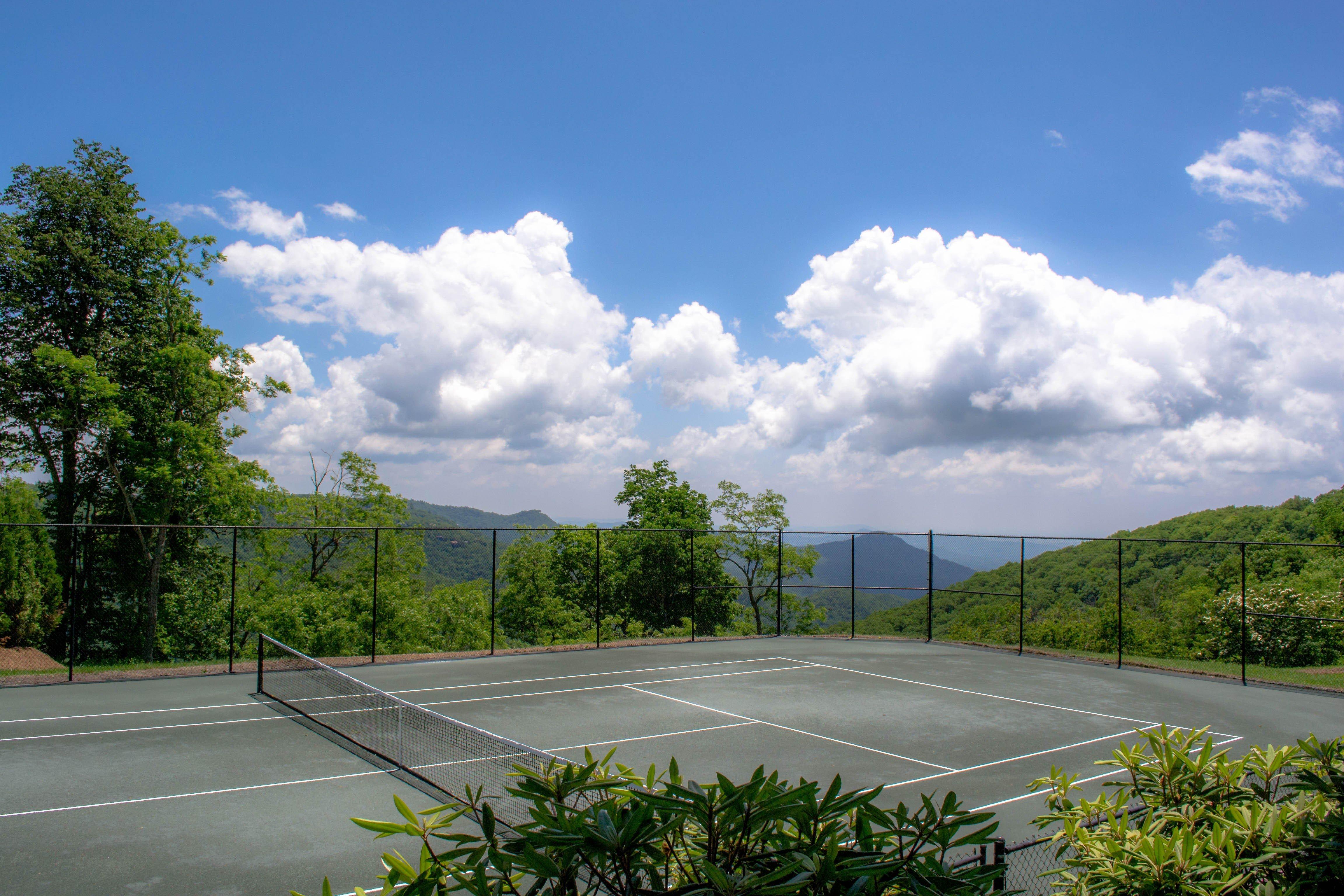 Tennis court on the estate