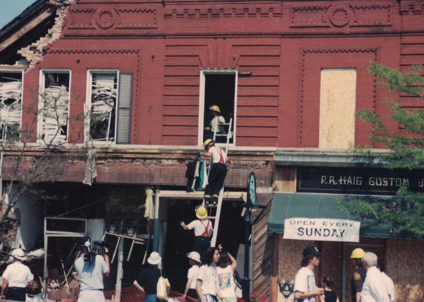 James Wilson Smith/Crissman Block explosion, May 1992