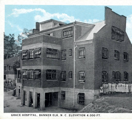 Historic Photo of Grace Hospital Nursing School before it was converted to Cannon Memorial.