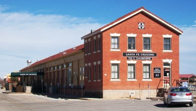The Santa Fe Railway Freight Depot was built in the mid-1920s.