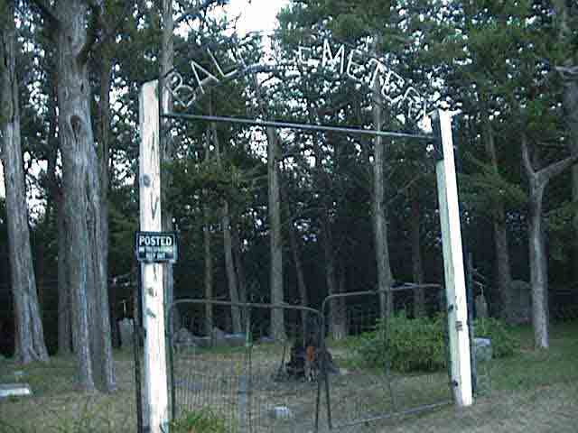 Gate to enter Ball Cemetery