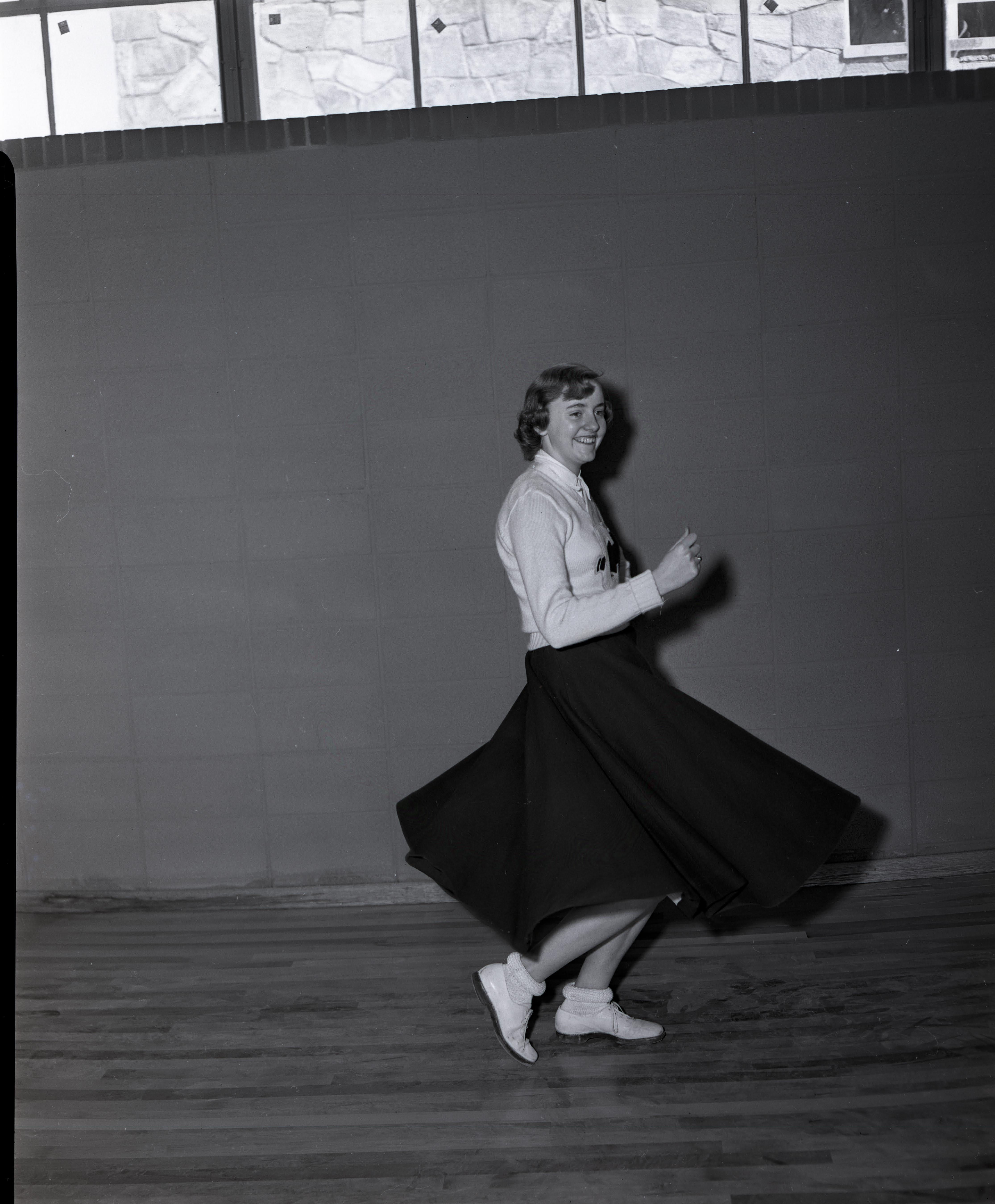 Cove Creek High School cheerleader, 1957.