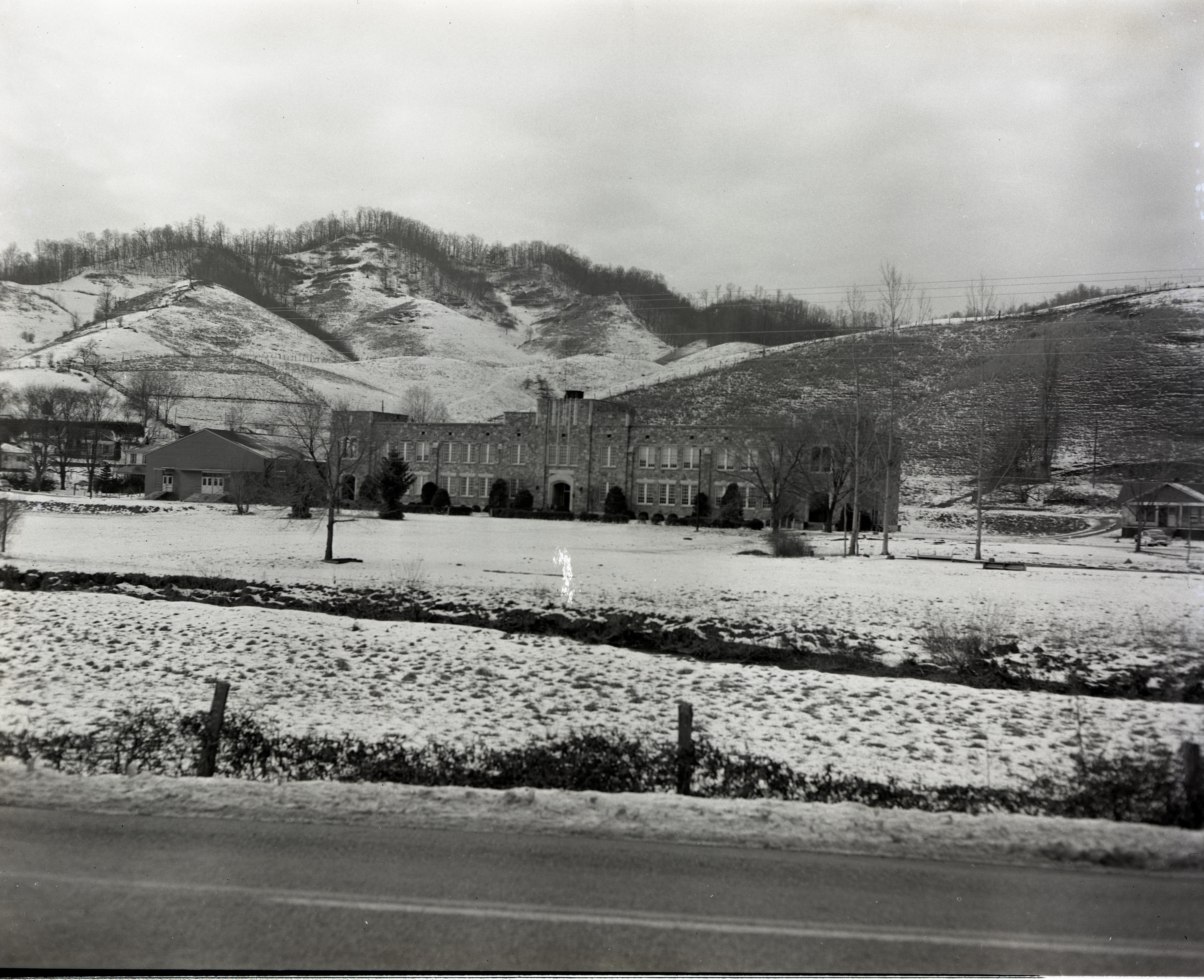 Snow scene, January 27, 1958.