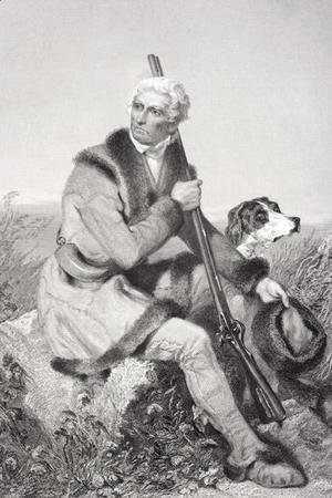 Portrait of Daniel Boone (1734-1820) by Alonzo Chappel