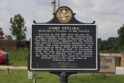 Camp Opelika held 3,000 prisoners of war during the last couple of years of World War II. It was one of four such camps in the state.