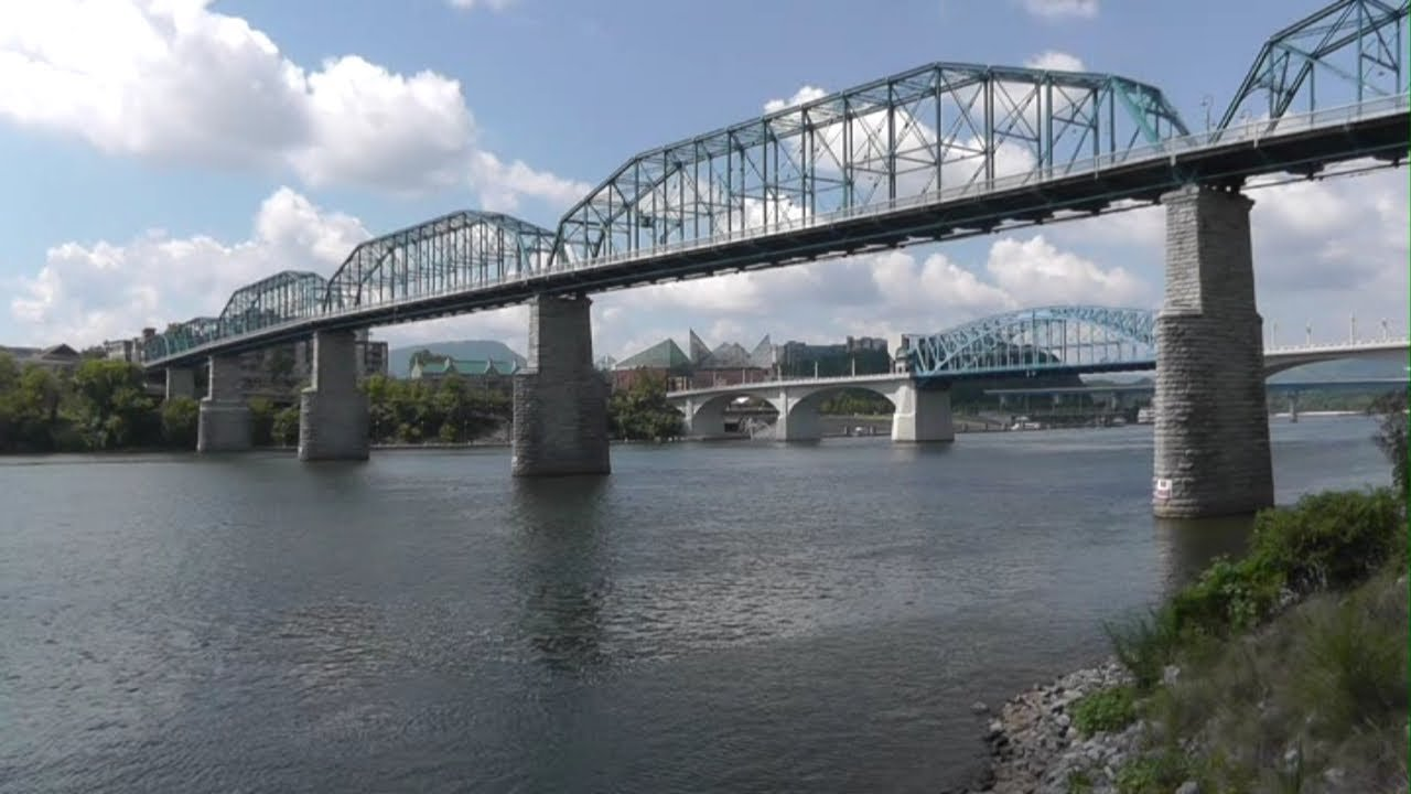The Walnut Street Bridge was completed in 1890 and connects Harrisburg to City Island.